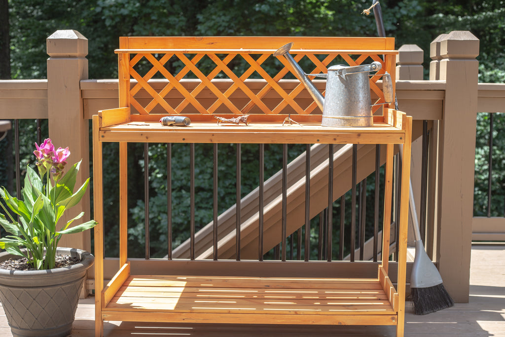 Upcycle a Garden Table to an Outdoor Bar