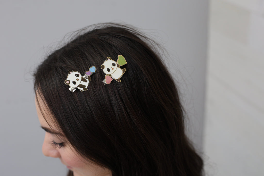 Enamel Hair Pins