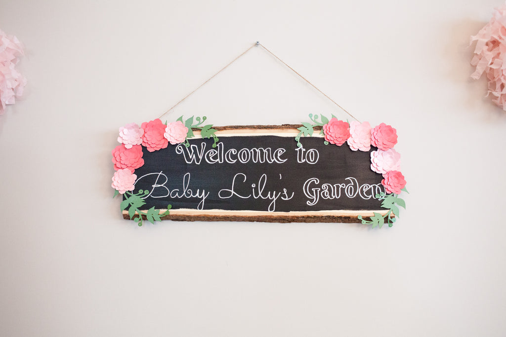 DIY Welcome Baby Shower Sign