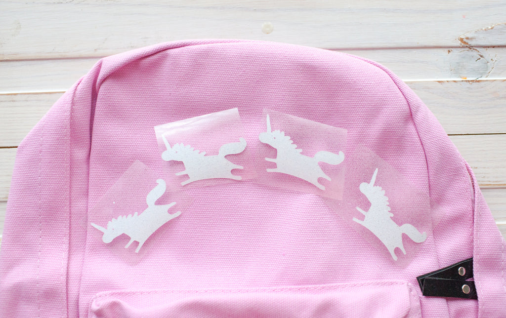 DIY unicorn book bag
