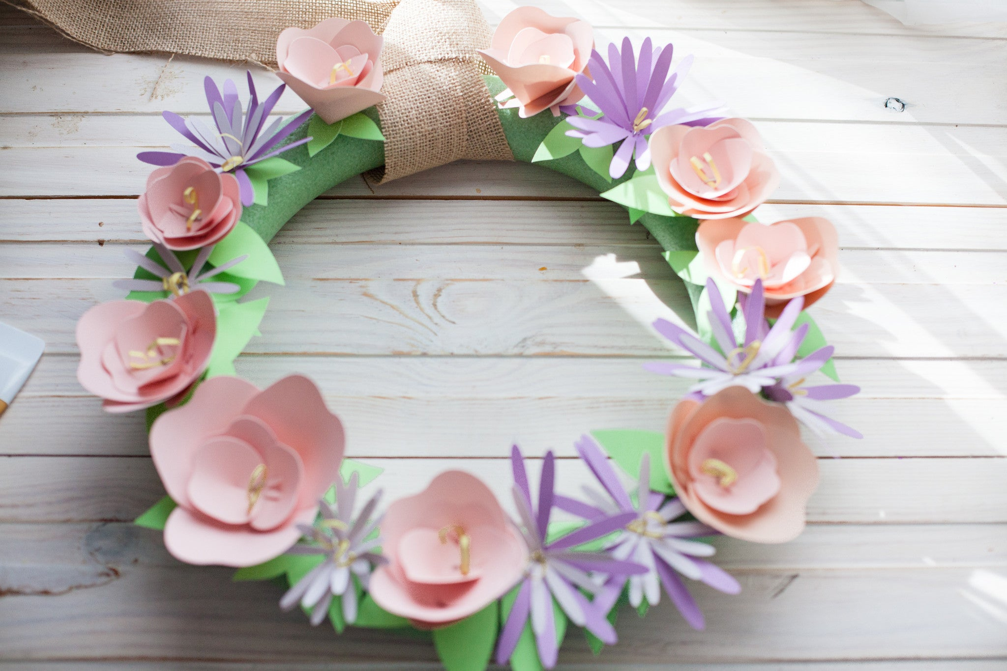 Paper Flower Wreath with Cricut