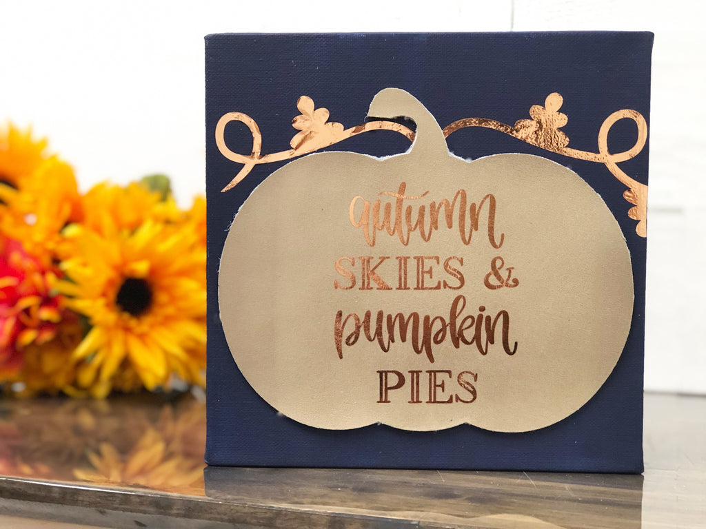 Cricut Fall Festive Pumpkin Canvas Artwork - Lynn Lilly Michaels Stores