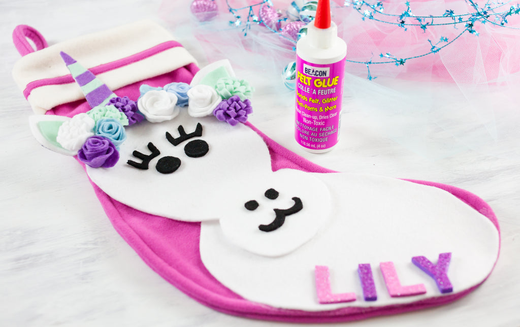 DIY Unicorn Stocking