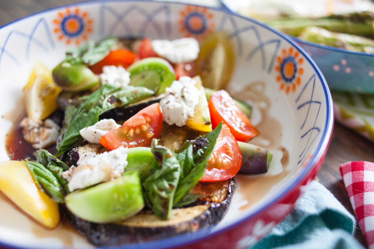 Grilled Eggplant Salad with Sweet Tomatoes