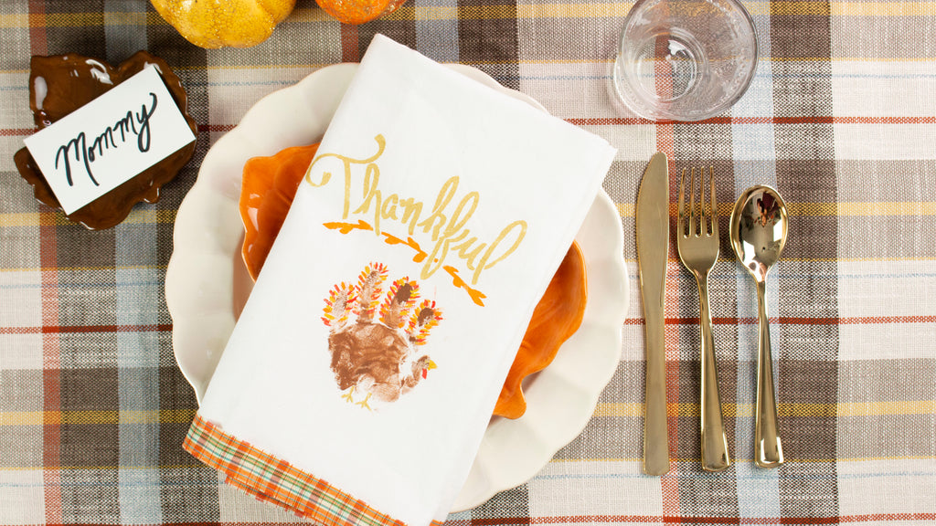 Thanksgiving Handprint Turkey Napkin