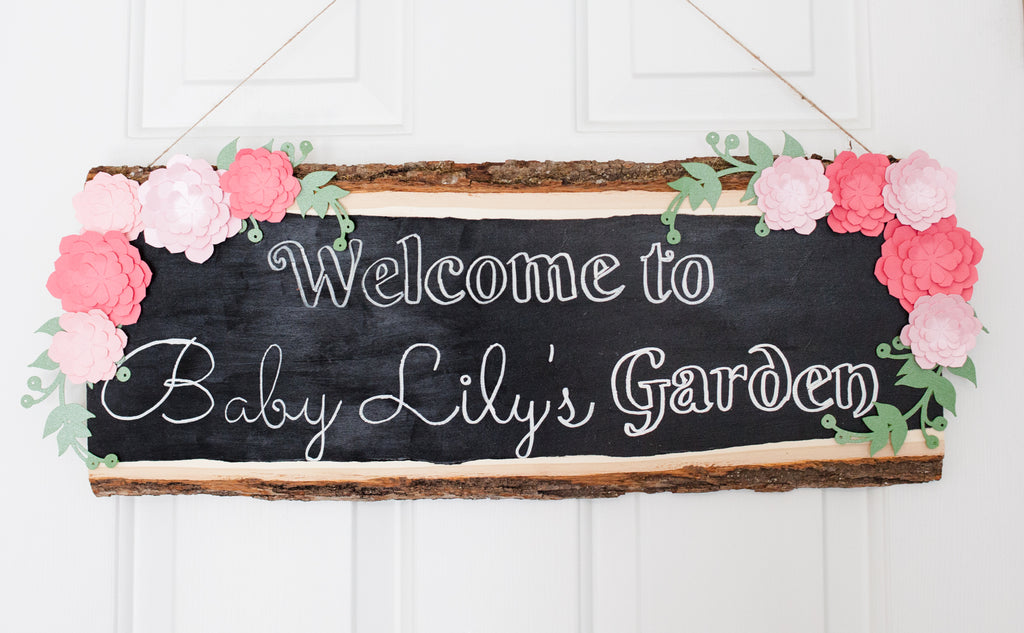 DIY Baby Shower Sign