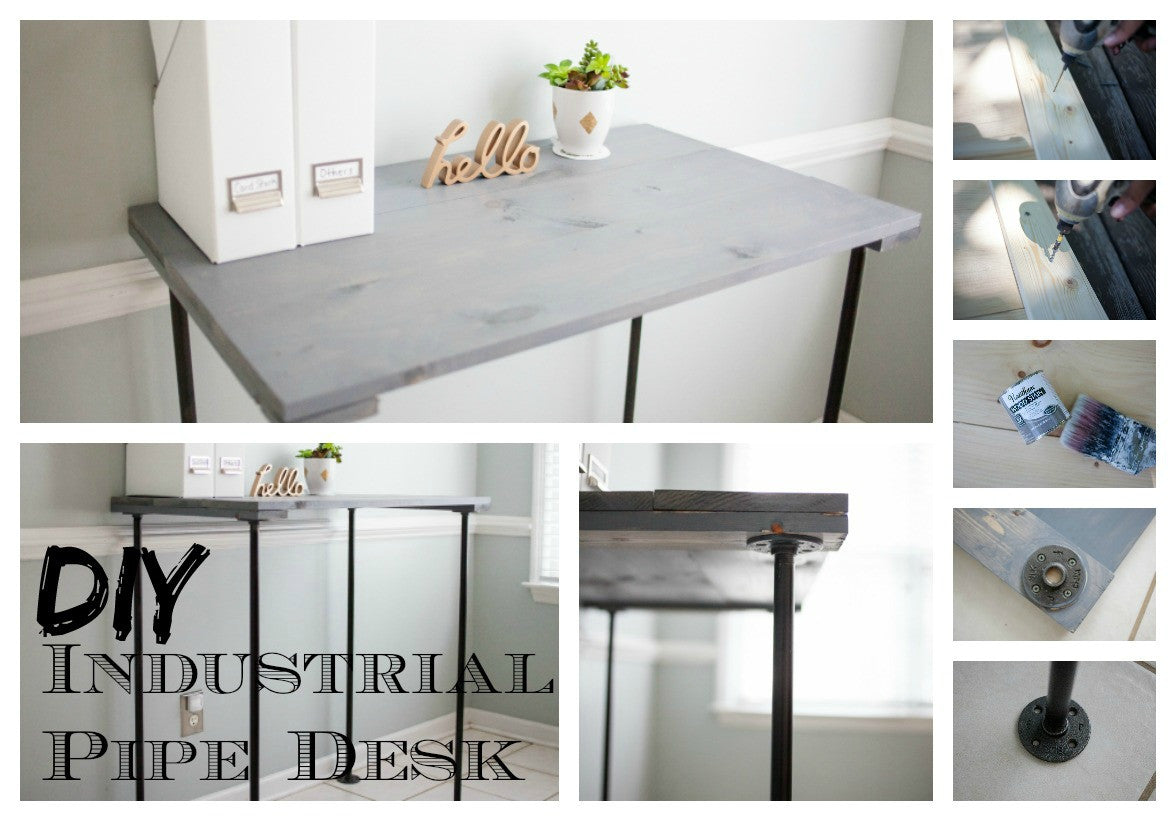 DIY Industrial pipe desk