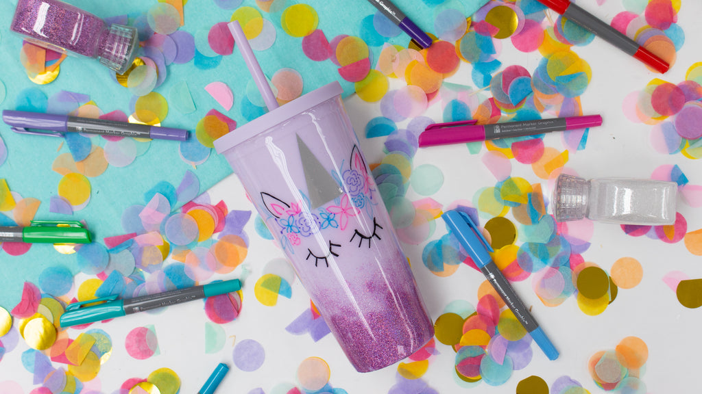 DIY Unicorn Tumbler