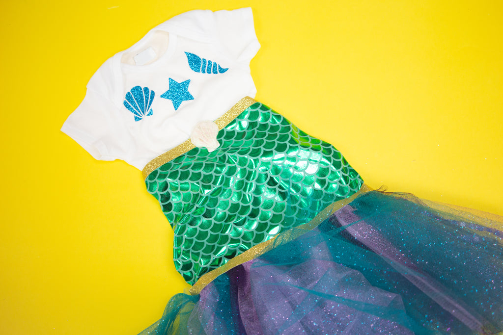 No-Sew Baby Mermaid Costume