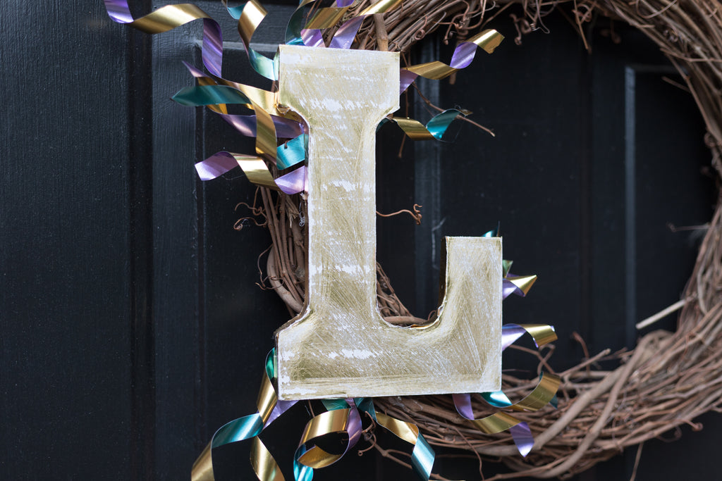 DIY Monogram Wreath