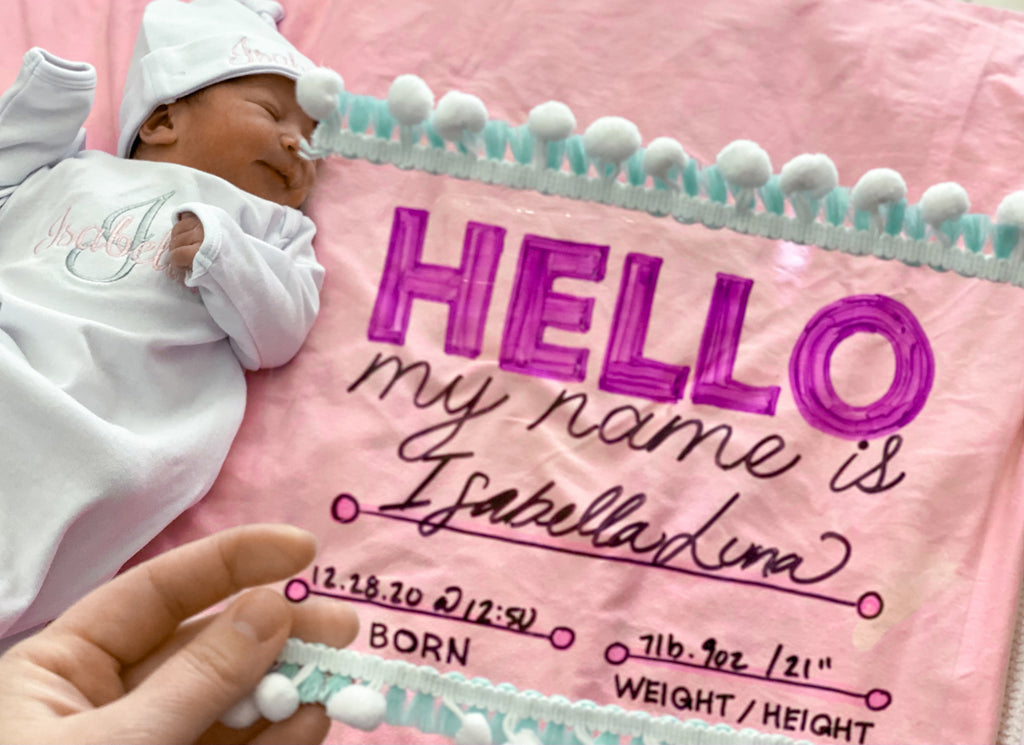 DIY Hello My Name Is Baby Sign