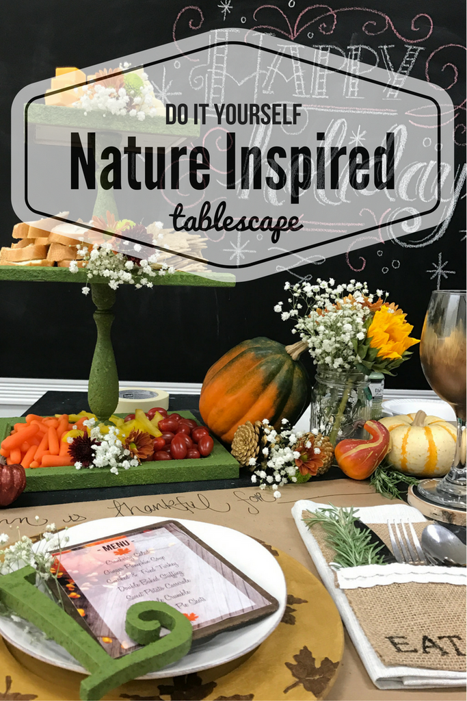 DIY Nature Inspired Tablescape