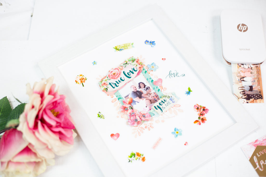 DIY Bridal Photo Frame Gift
