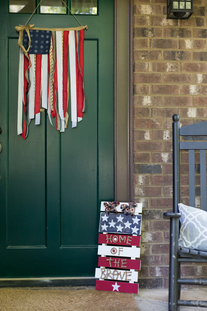 DIY Patriotic Front Porch Decor