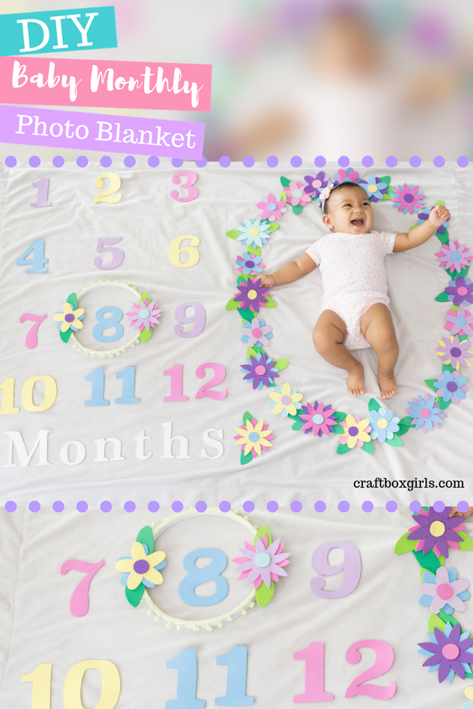 DIY Monthly Photo Blankets for Babies with a Flower Theme
