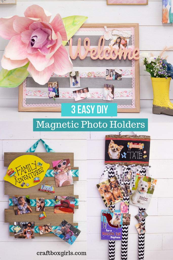 3 DIY Photo and Card Magnetic Displays