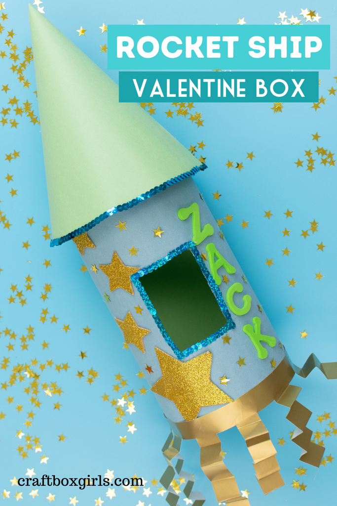DIY Rocket Ship Valentine's Day Bo