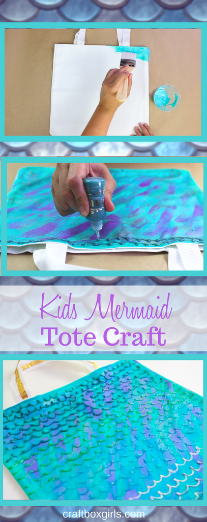DIY Mermaid Scale Tote