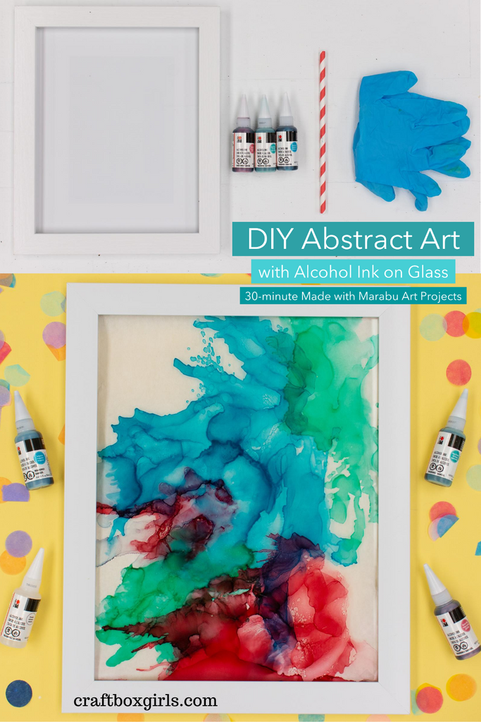 DIY Alcohol Ink Glass Artwork