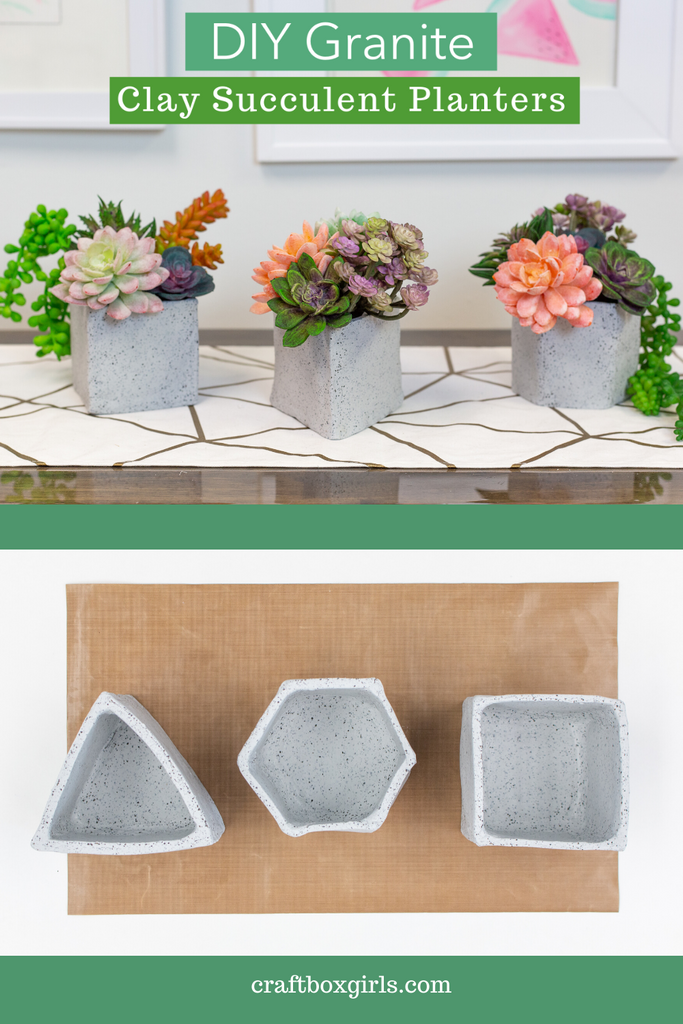 Sculpey DIY Granite Succulent Planter