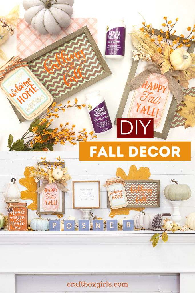 DIY Fall Decor Wall Signs with Aleene's