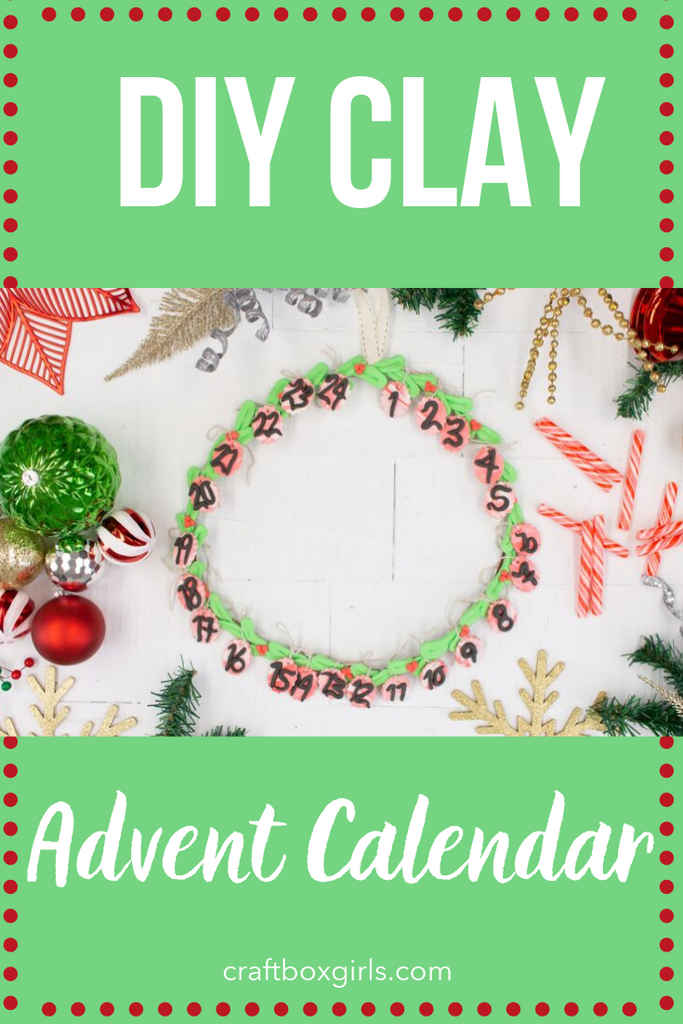 DIY Sculpey Clay Advent Calendar