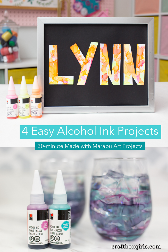 4 Easy Alcohol Ink Projects