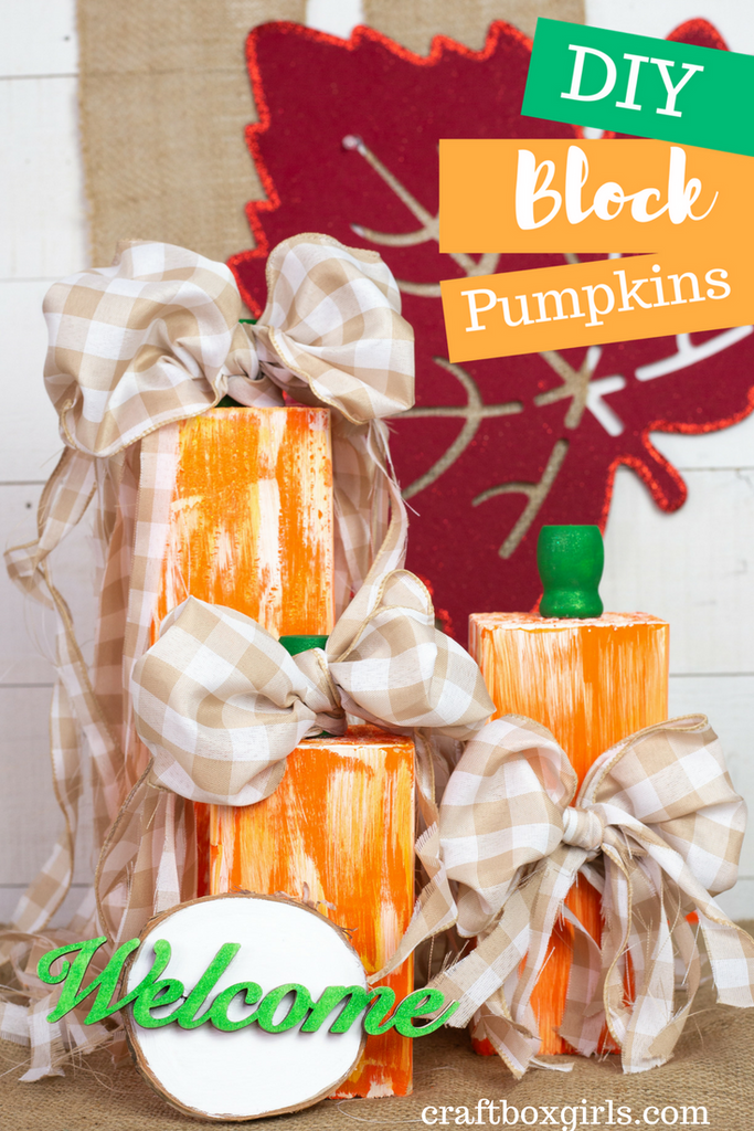 DIY Block Pumpkins