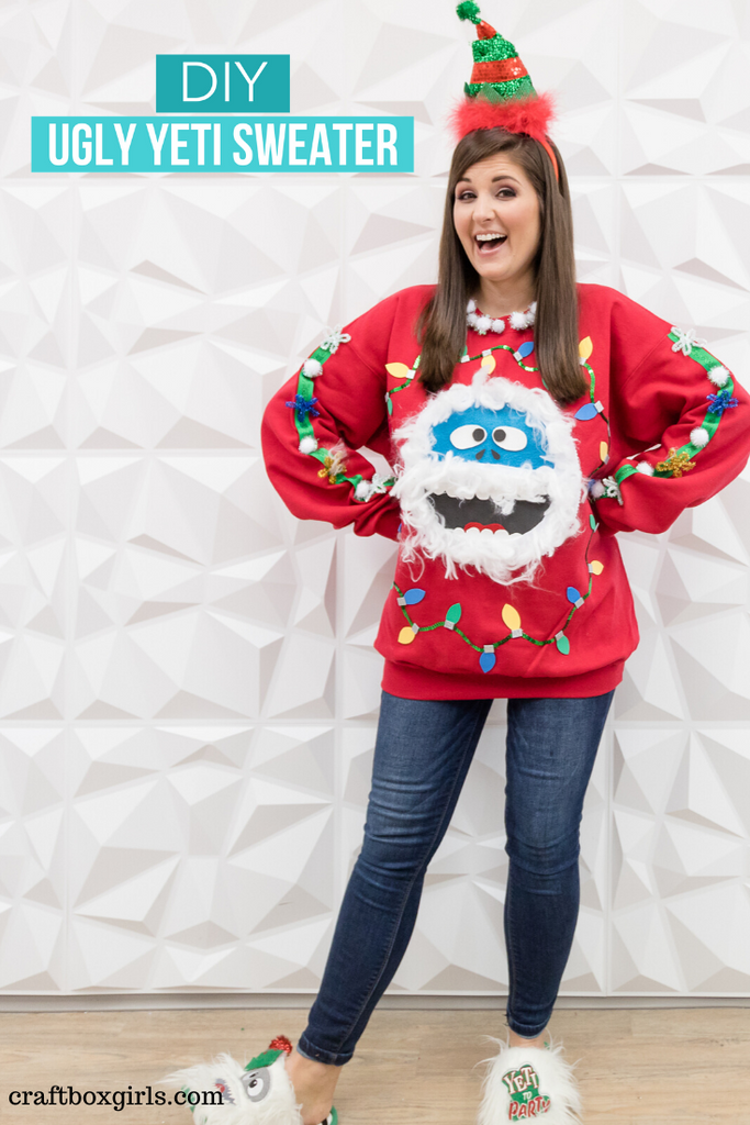 DIY Yeti Ugly Sweater