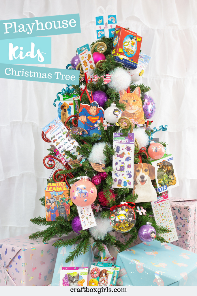 Playful Kids Christmas Tree Craft