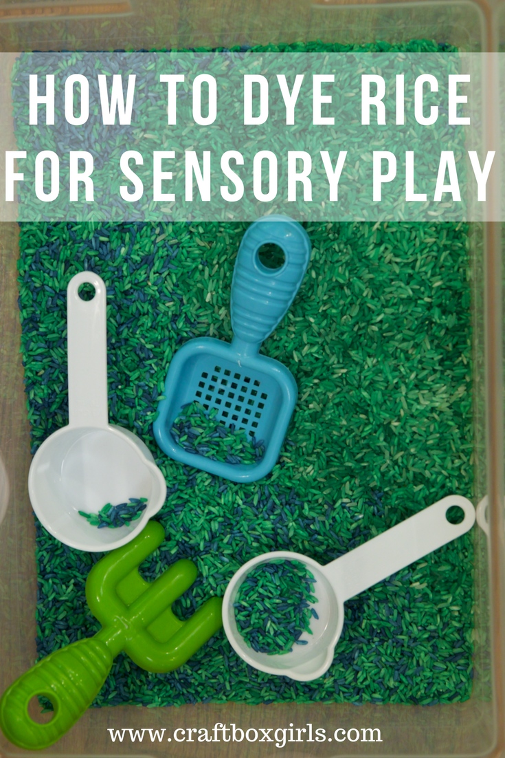 Sensory Play Rice for Kids