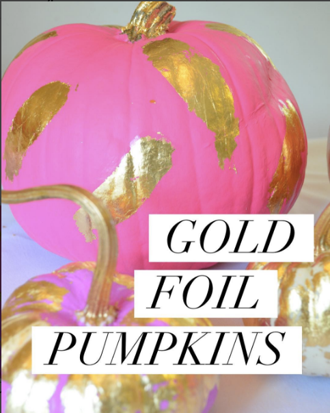 Gold Foil Pumpkins