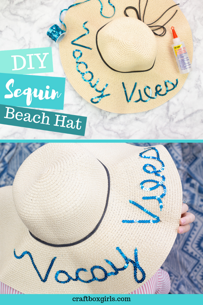 DIY Sequin Beach Hat
