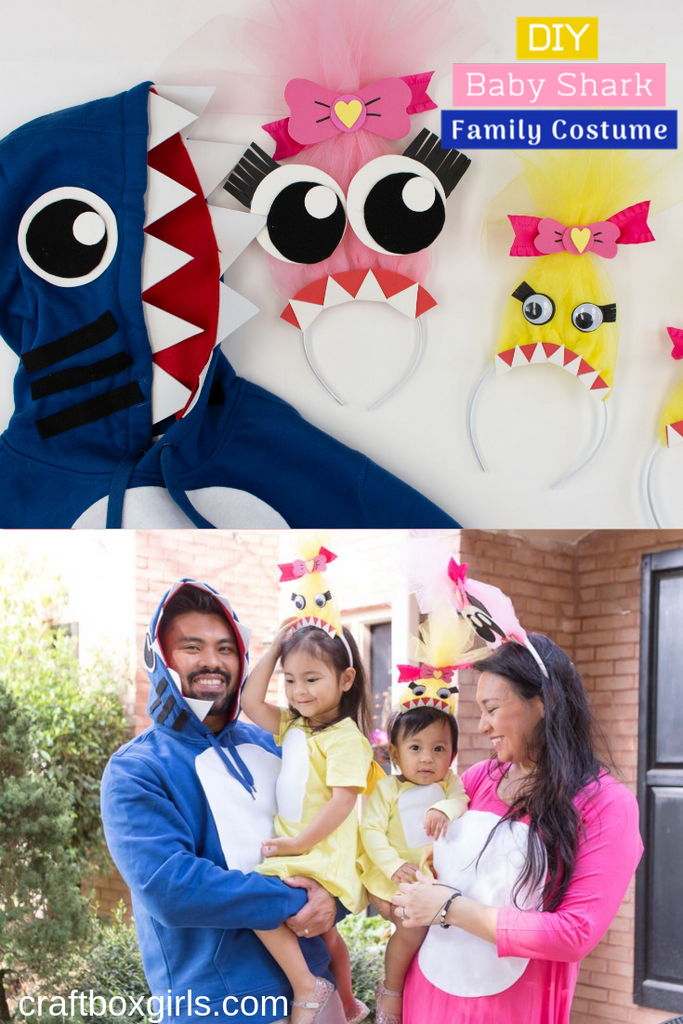 DIY Baby Shark Family Halloween Costumes