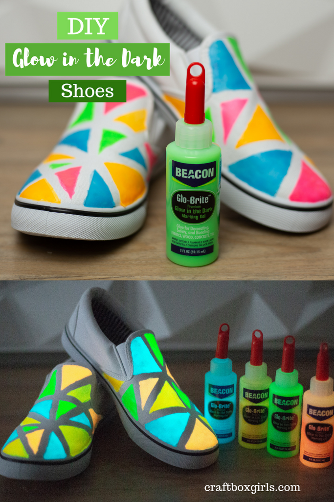DIY Glow in the Dark Shoes