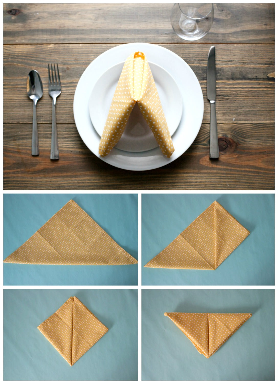 Napkin Fold for Summer Cook Out