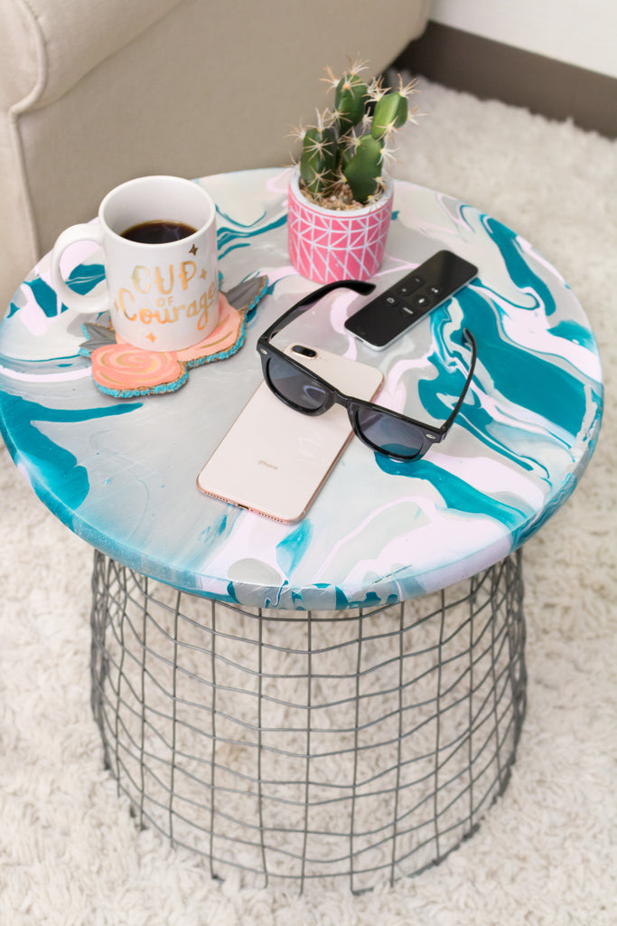 DIY Marbled Table