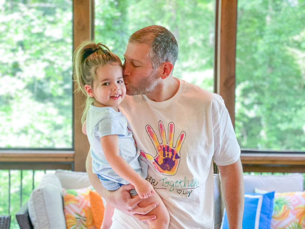 DIY Father's Day Handprint T-shirt