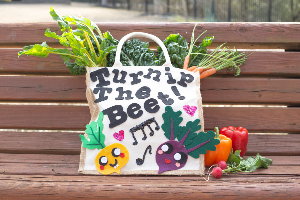 DIY Turnip the Beat Reusable Grocery Store Tote