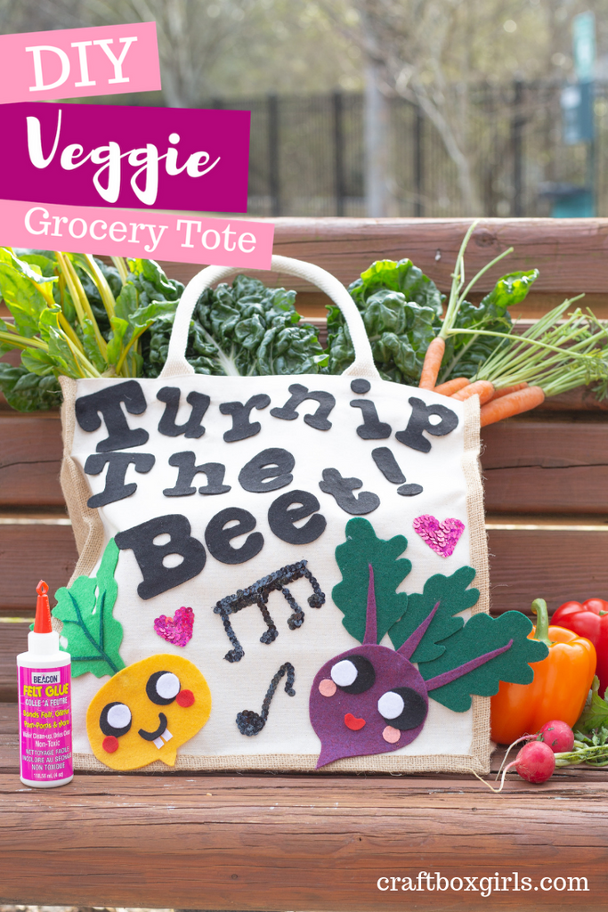 DIY Turnip the Beat Reusable Grocery Tote