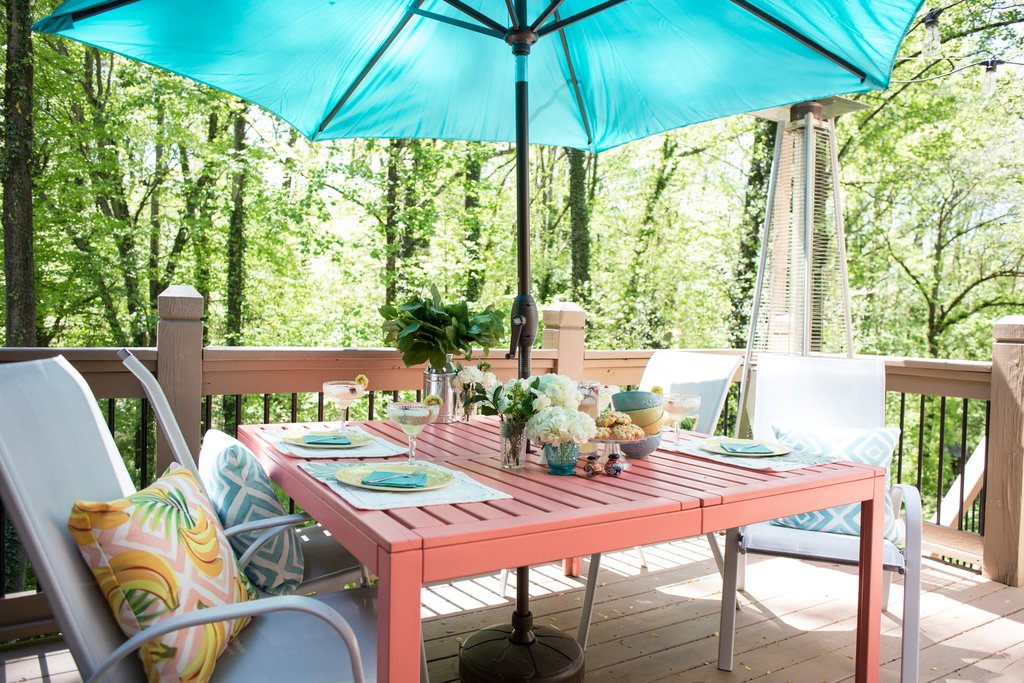 Deck Table Makeover