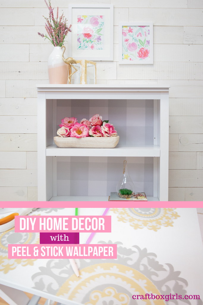 DIY Peel and Stick Wallpaper Crafts
