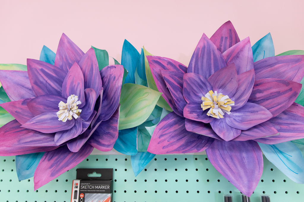 Giant Watercolor Paper Flower Garland