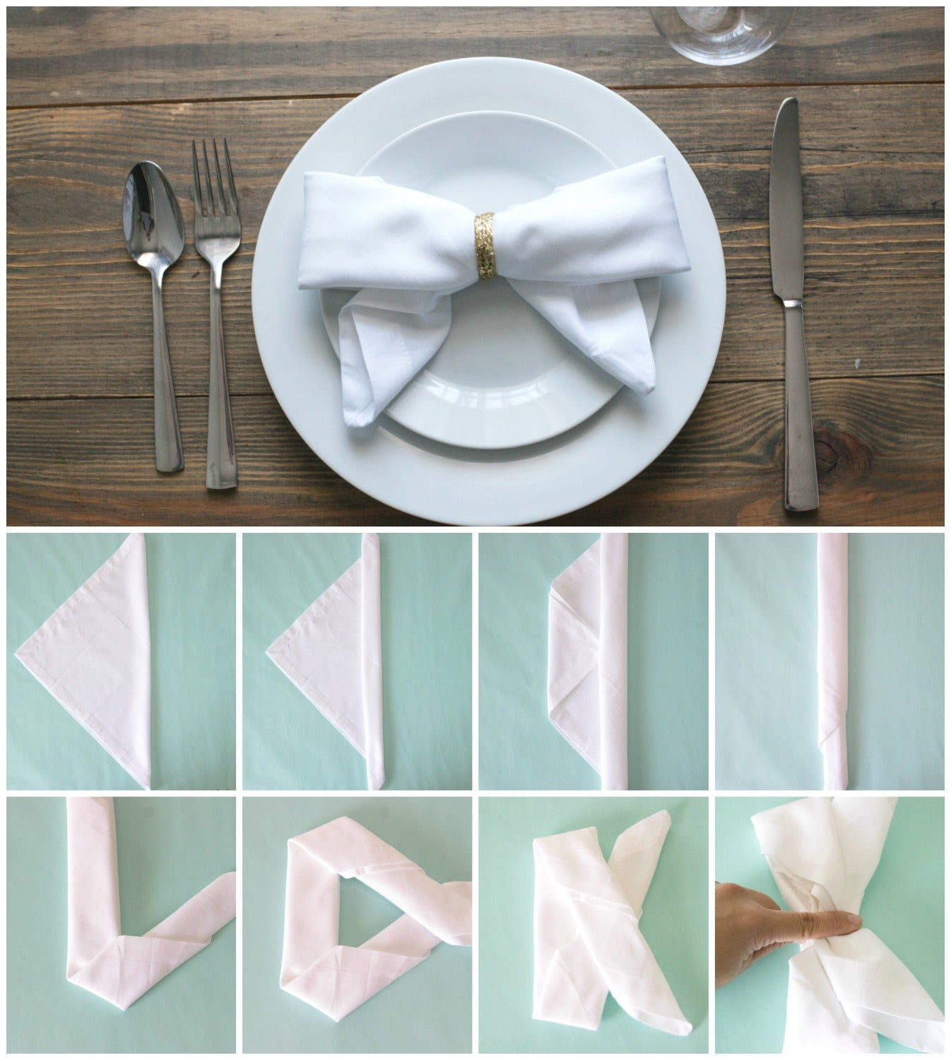 10 Ways To Fold Napkins Craft Box Girls