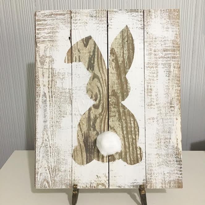 diy easter bunny wood art