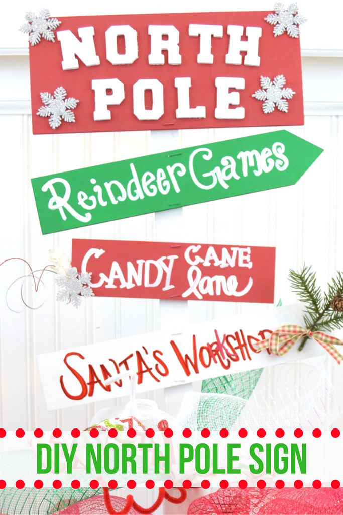 DIY North Pole Yard Sign