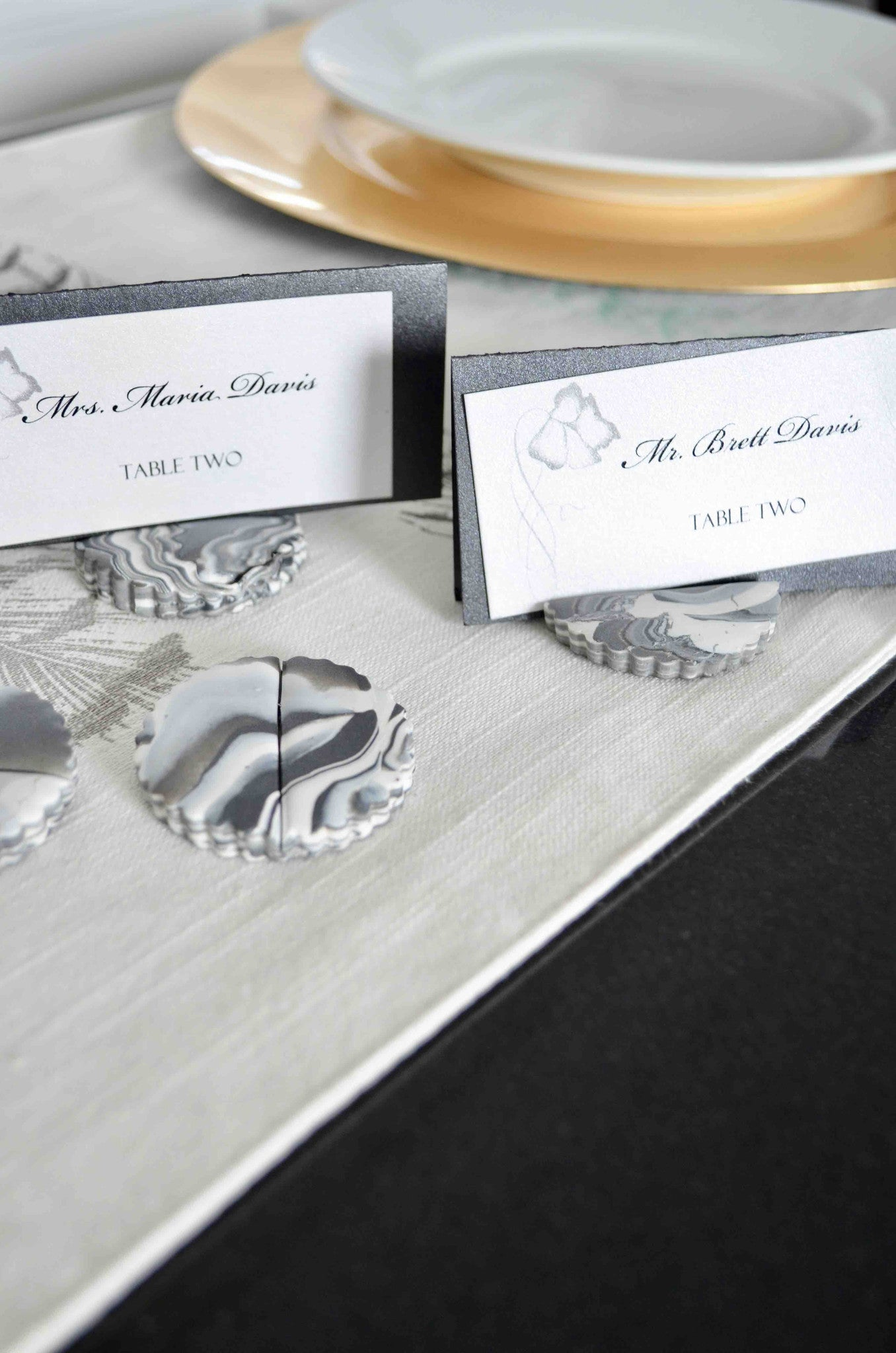 DIY Marble Place Holders