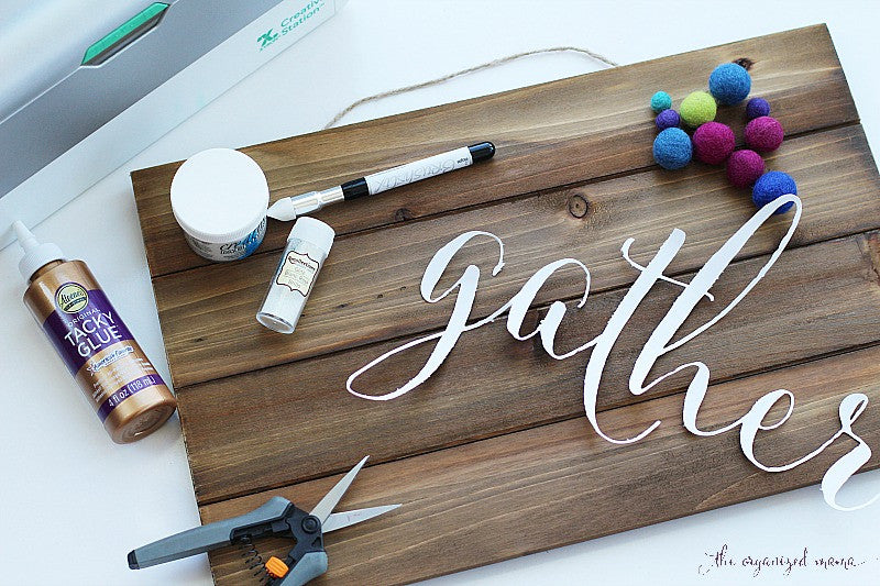 DIY Gather Sign Supplies