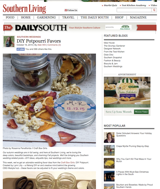 Southern Living Potpourri Feature