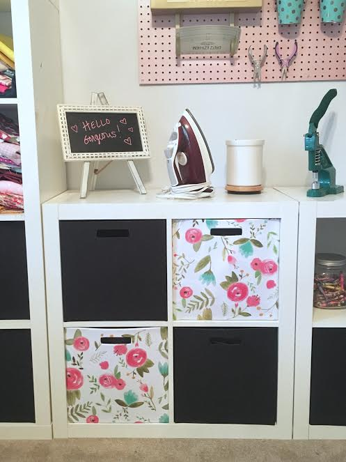 fabric storage bin makeover